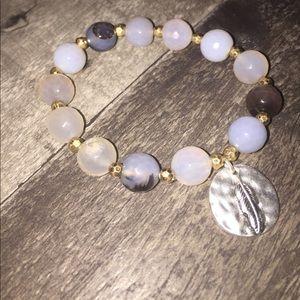 Glossy Marble Stone Bracelet